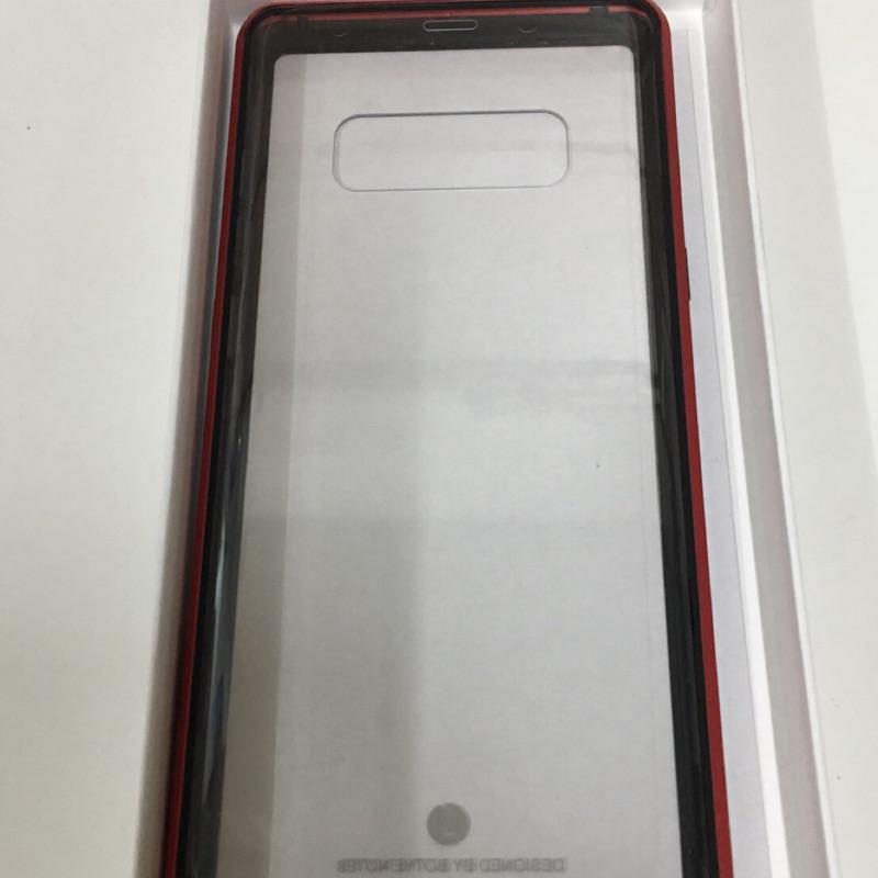 三星 磁吸式手機殼(黑紅)