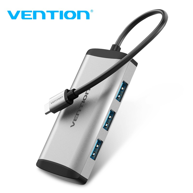 Vention Type-C HUB 擴展塢 五合一 多功能 轉接頭 擴展器 Micro USB2.0電源接口