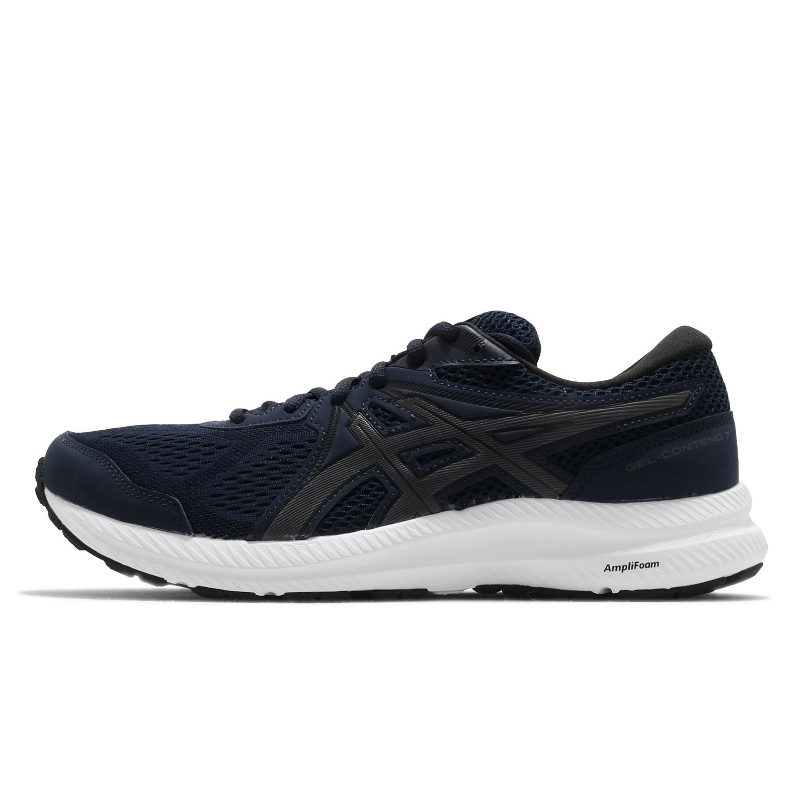 Asics 慢跑鞋 Gel-Contend 7 男 深藍 白 基本款 入門 運動鞋 【ACS】 1011B040-400