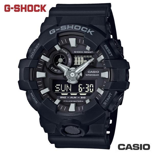 【CASIO】 G-SHOCK GA-700-1B 雙顯熱銷系列/53mm/消光黑【第一鐘錶眼鏡】