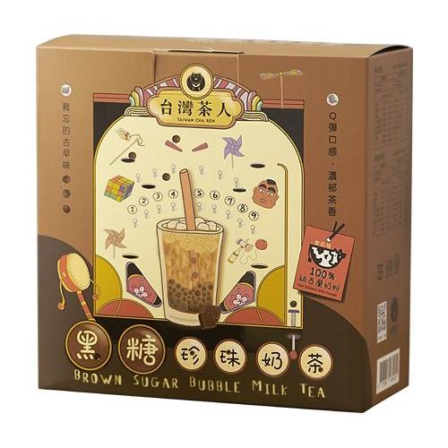 台灣茶人 黑糖珍珠奶茶(5份入)【小三美日】DS000076