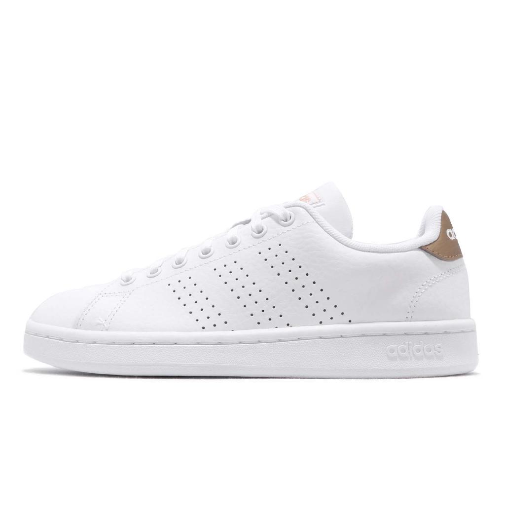 adidas 休閒鞋 Advantage 白 金 小白鞋 女鞋 愛迪達 基本款 皮革鞋面 【ACS】 F36223