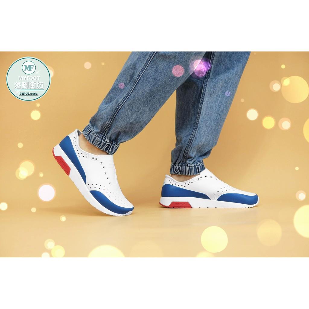 ✔台中native LENNOX BLOCK 雷諾系列 男女 白x藍x紅 8610 休閒鞋 懶人鞋 雨鞋