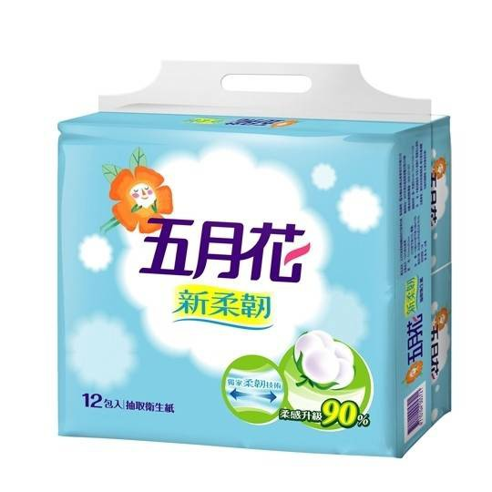 五月花~新柔韌抽取式衛生紙【110抽x12包x6袋/箱】