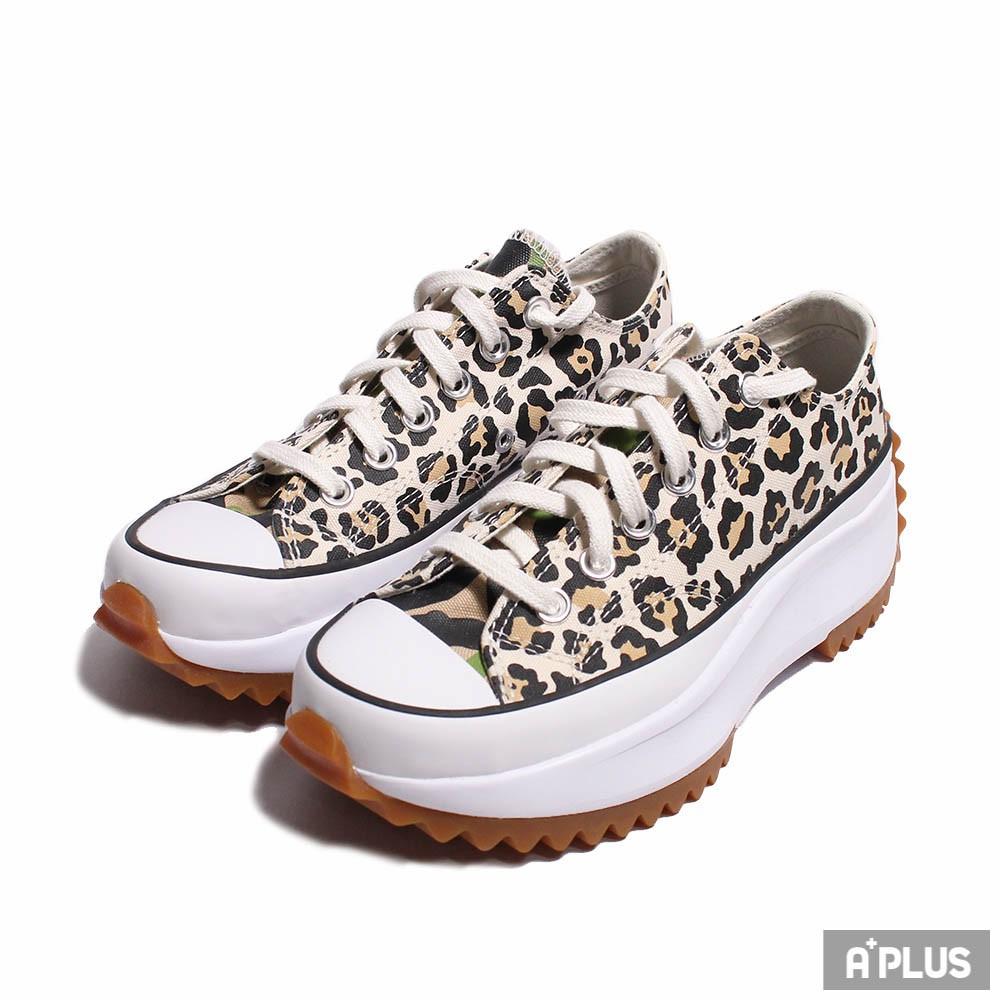 CONVERSE 女 低筒帆布鞋 豹紋 鋸齒 焦糖底 厚底 增高 RUN STAR HIKE OX  - 170912C