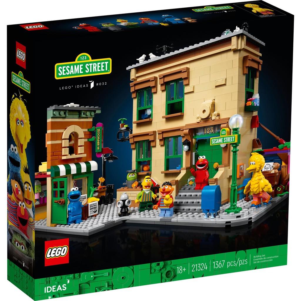 《熊樂家║高雄 樂高 專賣》LEGO 21324 芝麻街123號 Sesame Street IDEAS