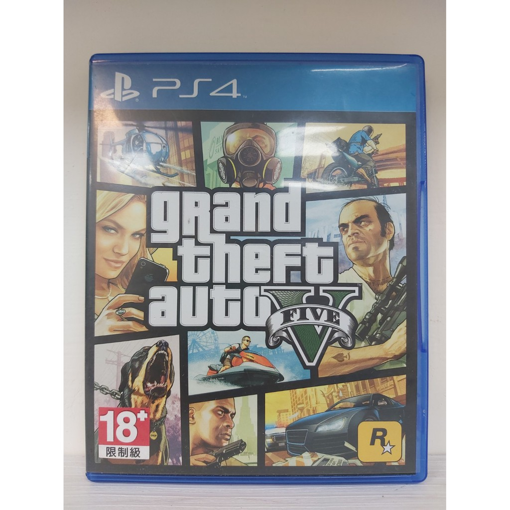 《123C》※滿800免運 PS4 二手 俠盜獵車手5 GTA5 中文 / 另回收PS4和Switch遊戲