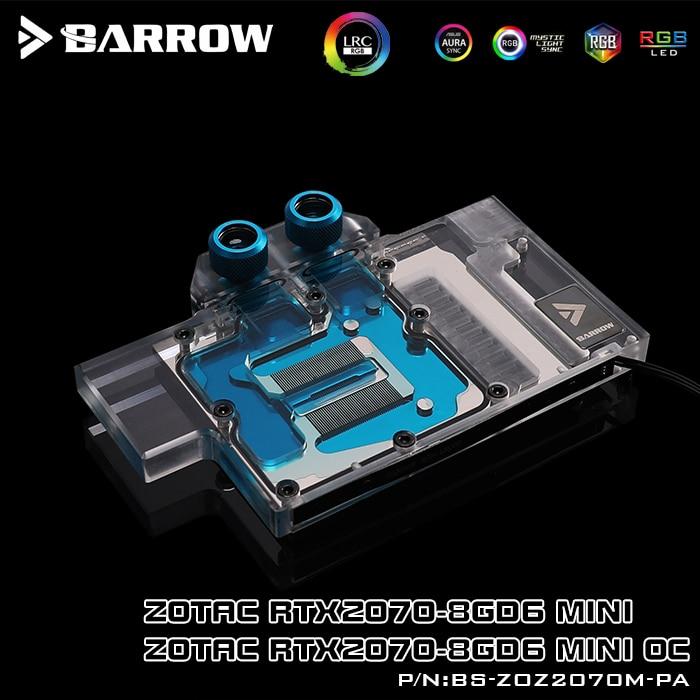 適用於Zotac RTX2070 Mini / RTX2070 Mini OC的Barrow BS-ZOZ2070M-P
