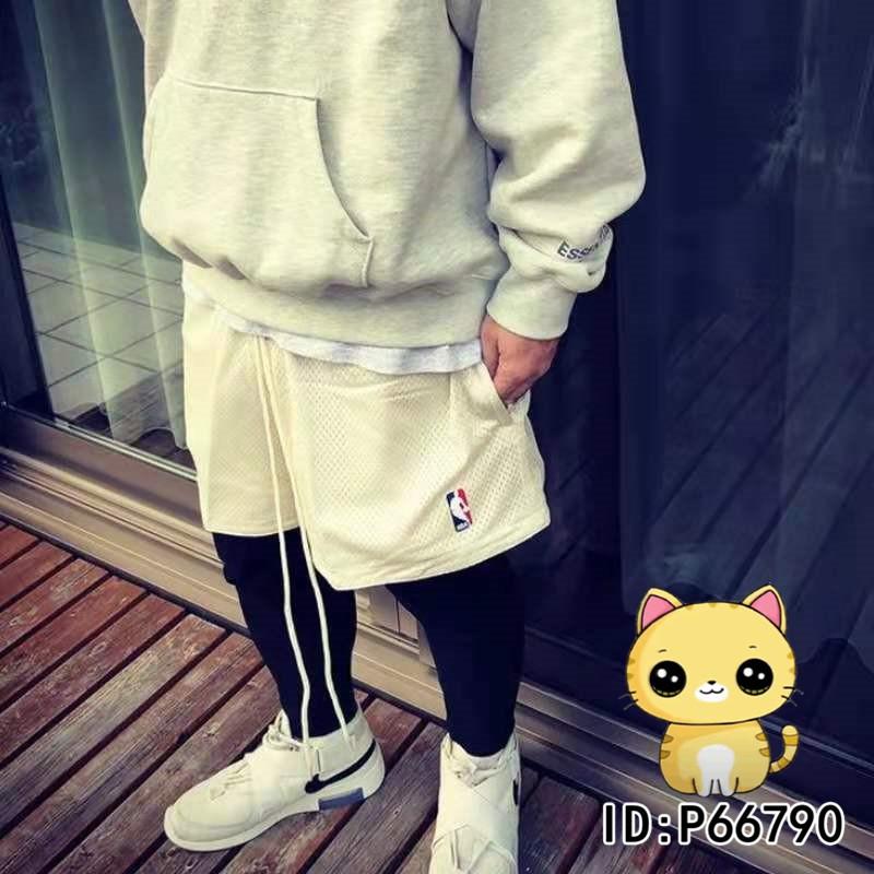 Nike x Fear of God FOG x NBA 三方聯名短褲 寬鬆運動短褲 雙面穿抽繩網眼短褲 男女短褲