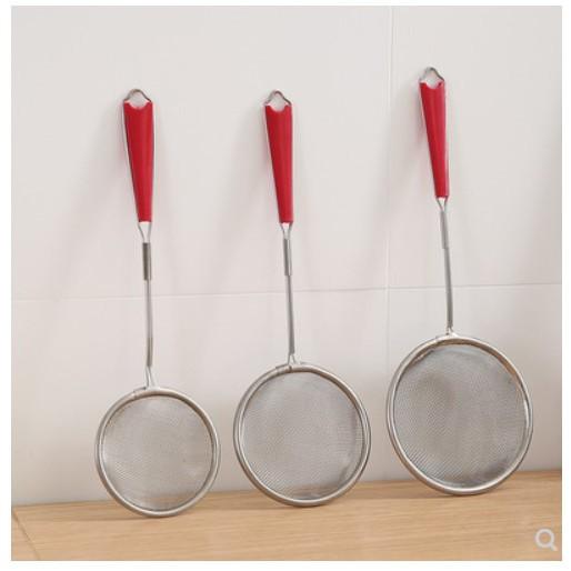 304不銹鋼超細過濾網廚房家用小漏勺大小號熟料撈麵勺子火鍋撈勺