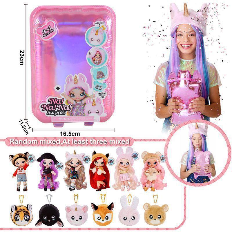 ✁▨娜娜nanana驚喜娃娃lol盲盒正品泡泡瑪特芭比衣服公主盲盒玩具pdd