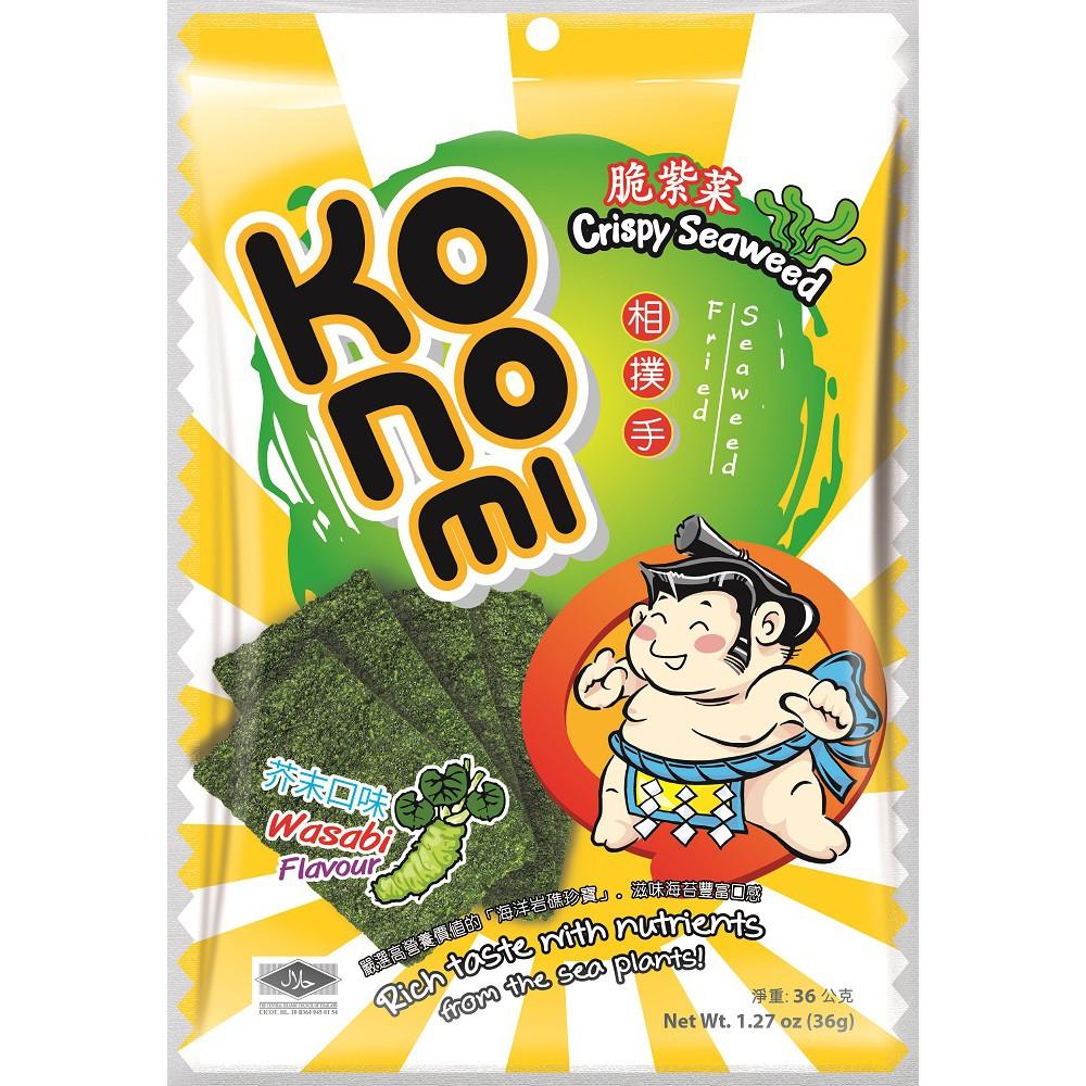 KoNoMi 相撲手脆紫菜-芥末口味-36g