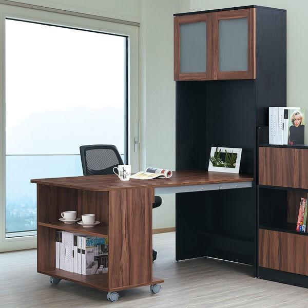【森可家居】環保系統板多功能伸縮餐桌櫃(不含矮櫃) 7GL604-1 L型餐櫃 廚房櫃 兼書桌櫃 工業風 MIT台灣製