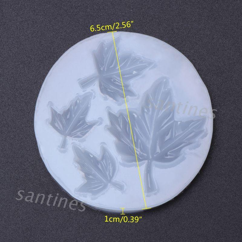 san* 矽膠模具楓葉花葉子DIY飾品製作蛋糕手工飾品