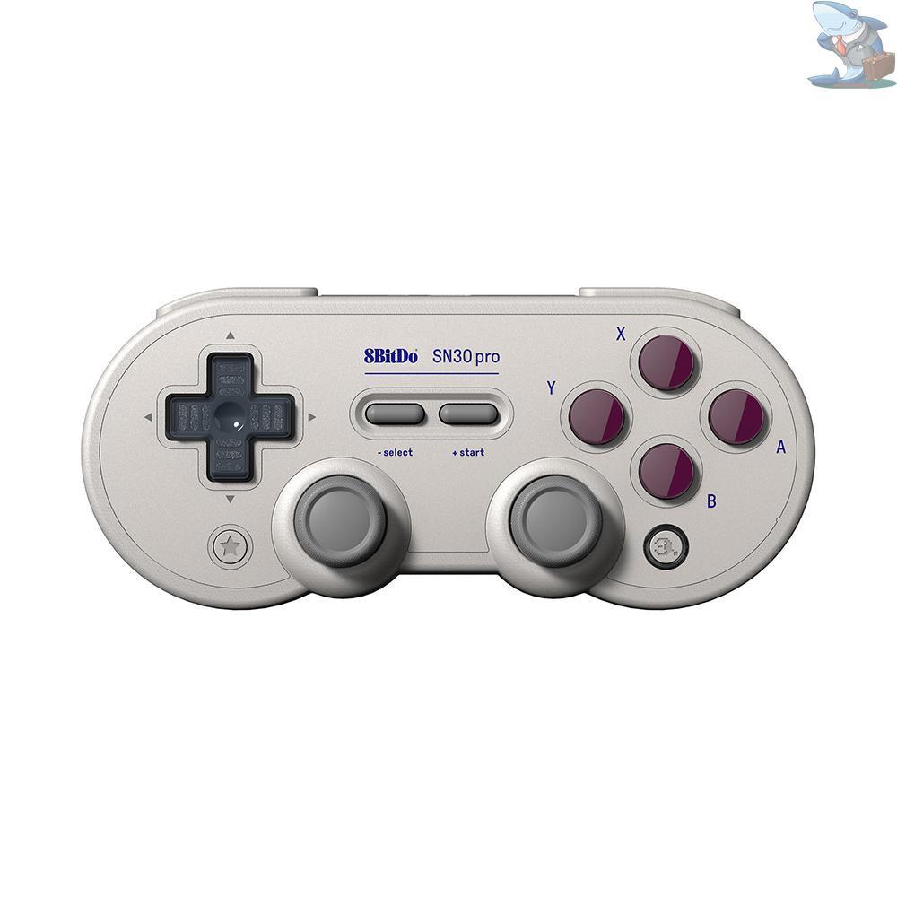 S&S 8Bitdo SN30 PRO復古經典控制器BT遊戲手柄,用於開關震動