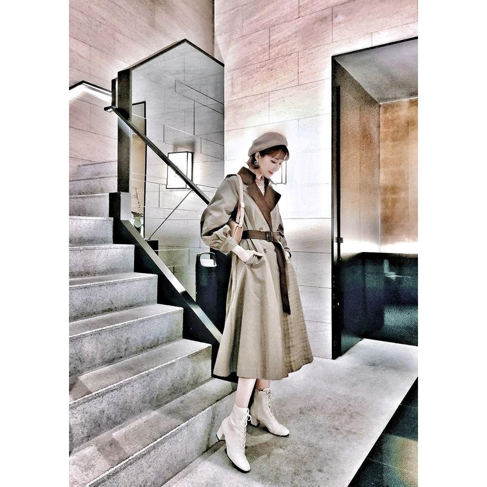 獨家自製款蕾絲長風衣外套