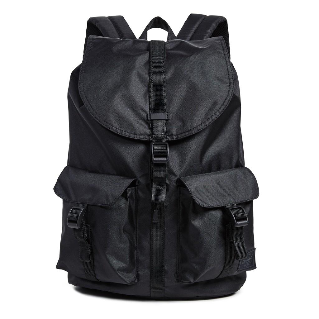Herschel Supply Dawson 大型 中型 黑色 輕量 帆布 磁扣 筆電層 背包 後背包 現貨 金高銀