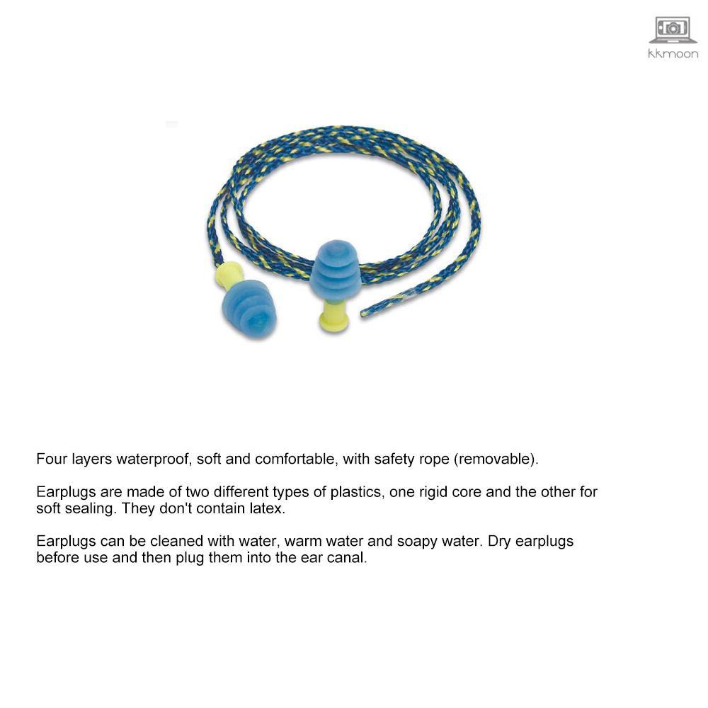 MACK'S 1對防噪音矽膠耳塞專業防水游泳耳塞聽力保護防打Sn耳塞