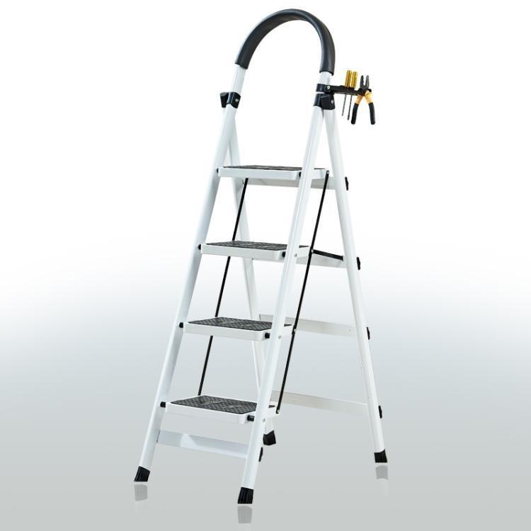 現貨-折扣卷折現 家用折疊梯子室內人字梯四步梯五步梯爬梯加厚多功能扶梯伸縮梯子 新品