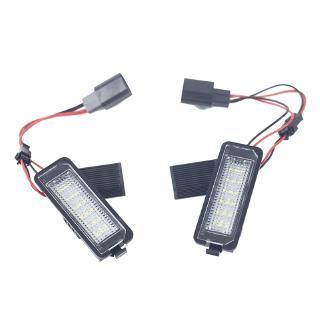 用於VW GOLF 4 5 6 7 Polo 6R 汽車牌照燈 白色LED車牌燈 12V汽車尾燈