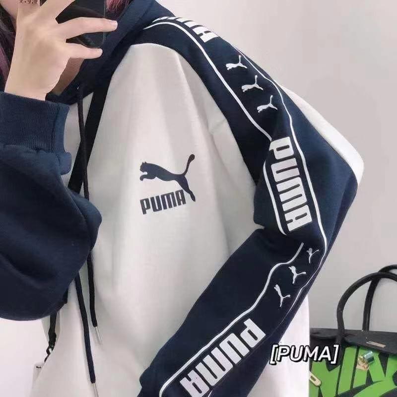 首發Puma彪馬串標加絨連帽情侶款衛衣外套 ex4761