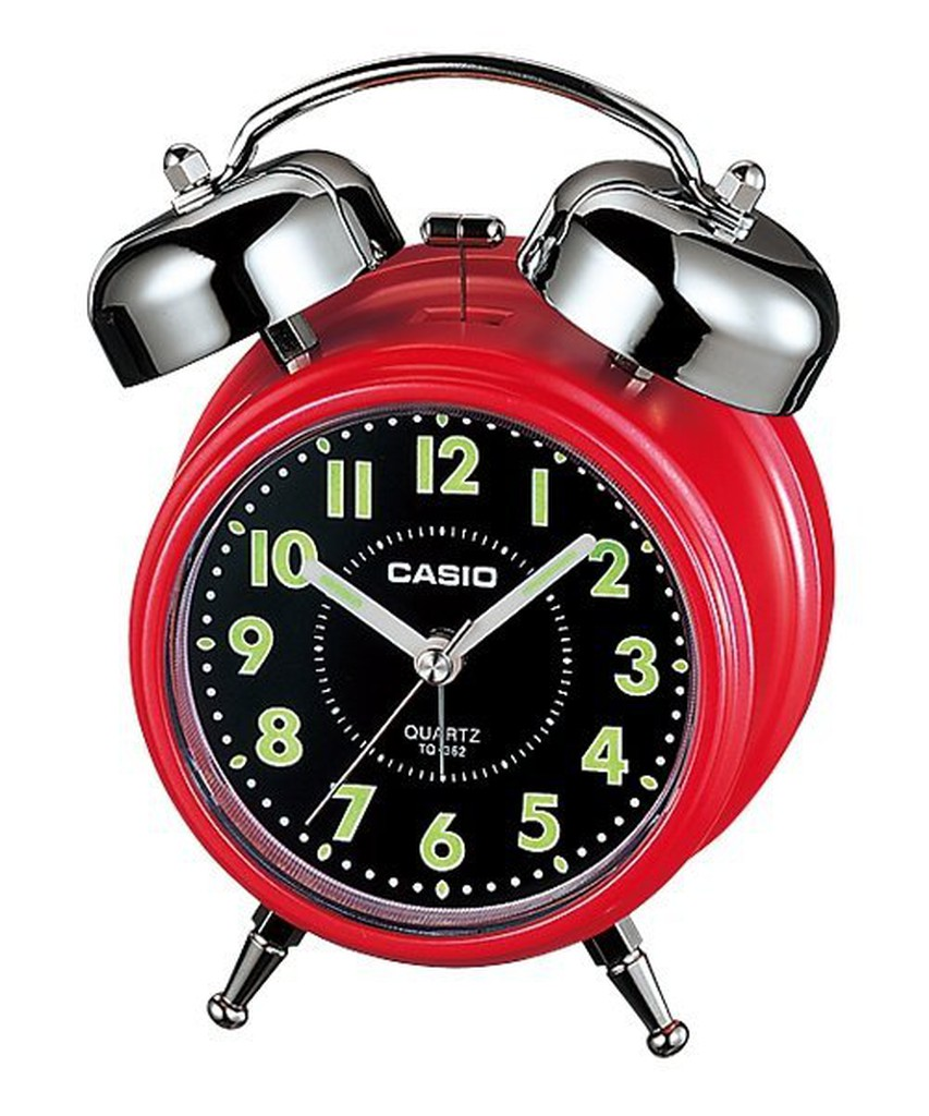 CASIO 卡西歐  桌上型指針雙響音鬧鐘,數字刻度漆有螢光塗料,夜間判讀同樣便利(TQ-362-4A)