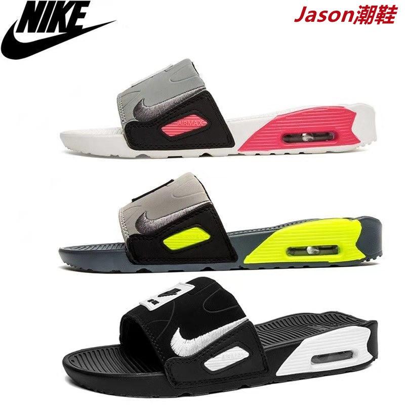 耐吉Nike新款 Air Max Camden 90 男拖鞋氣墊休閒運動涼鞋 居家 男女情侶個性防滑外穿沙灘涼拖