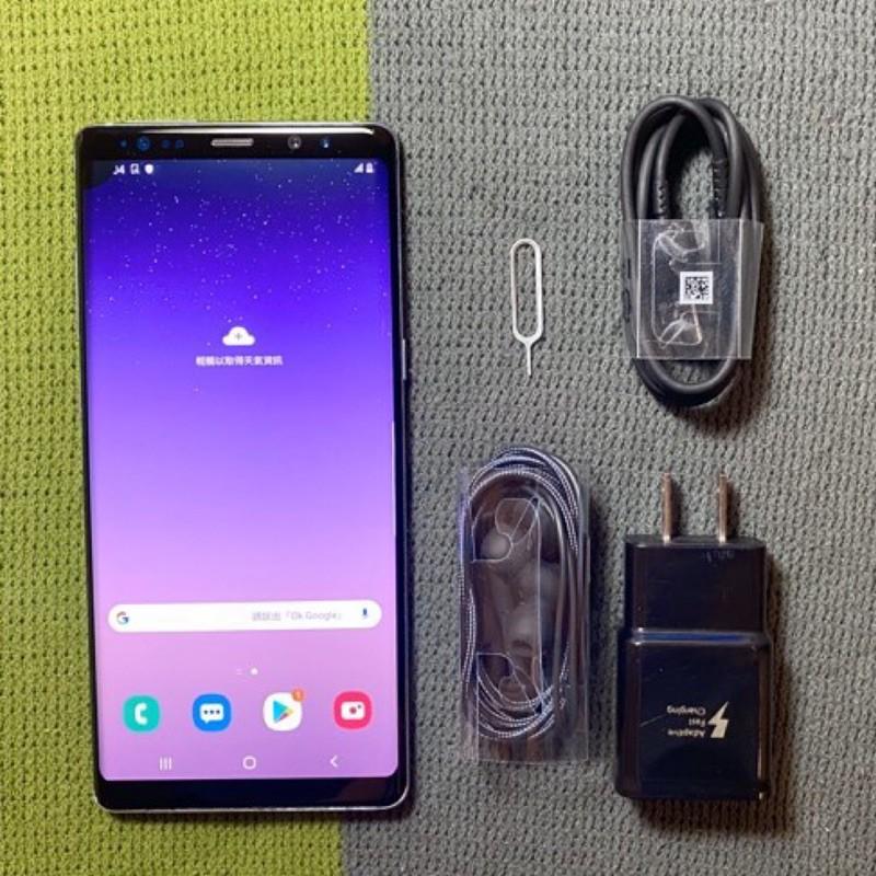 Samsung Note8 64G 紫 灰 6.3吋 9成新 三星 N8 虹膜辨識 二手機回收 面交貨到付款 銀幕有黑點