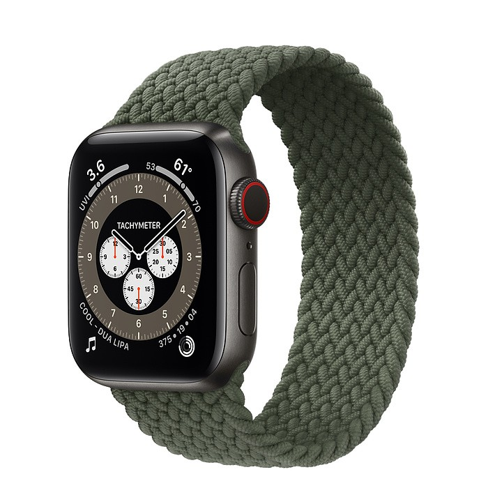 ☆創創通訊☆全新Apple Watch Series 6  太空黑色鈦金屬40 公釐錶殼;編織單圈錶環 保固一年