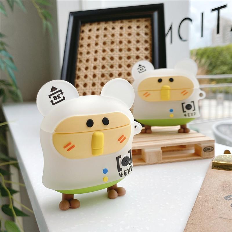 卡通可愛老鼠airpods保護套蘋果2代藍牙耳機airpodspro3代防摔盒