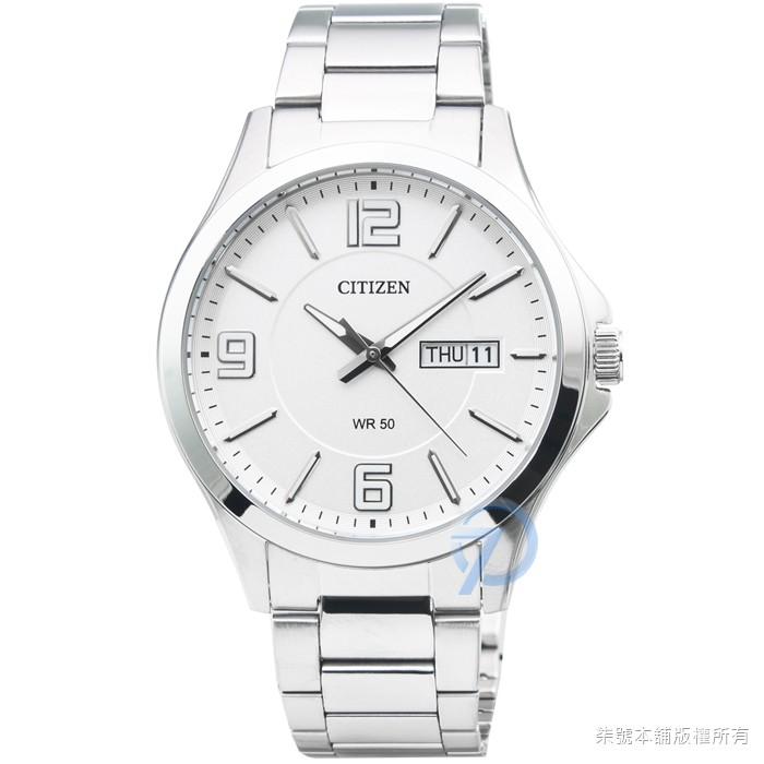 【CITIZEN】星辰簡約風格石英鋼帶錶-白面 / BF2001-55A