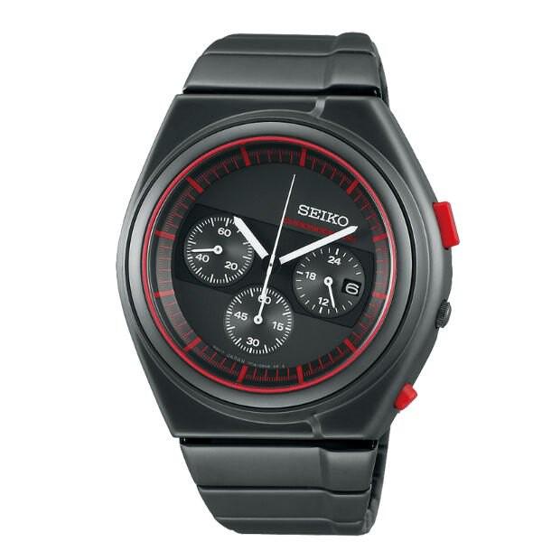 Seiko精工 SPIRIT 7T12-0CD0R(SCED055J) 聯名設計限量計時手錶/紅+黑 43mm