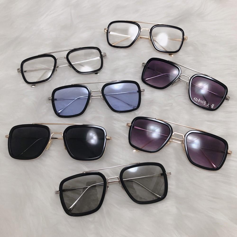 【B170】爆款 鋼鐵人 復仇者聯盟 同款 偏光 變色片 抗UV400 墨鏡 蜘蛛人 歐美 方形 小勞勃道尼 平光眼鏡
