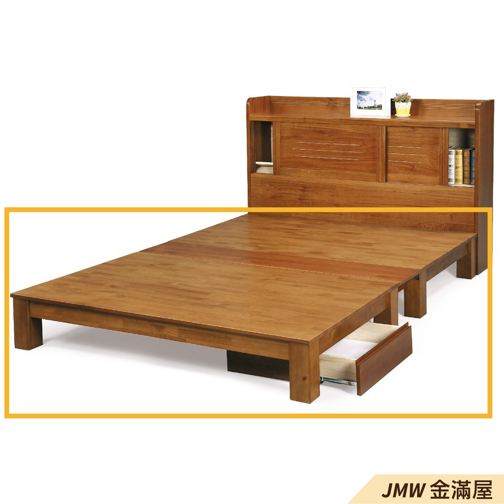 [免運]標準雙人5尺 床底 單人床架 高腳床組 抽屜收納 臥房床組【金滿屋】C073-7
