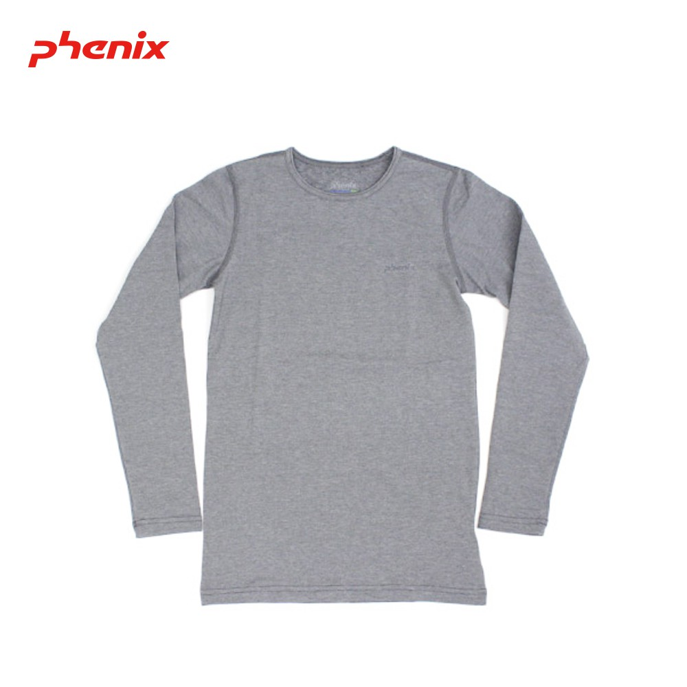 【PHENIX】童Outlast恆溫長袖圓領內衣 [灰色] 兒童內衣 衛生衣 圓領內衣| PH172KU10193