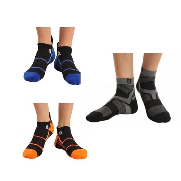 AQ立體編織低筒厚底運動襪-黑藍、黑橙、灰黑【原廠公司貨保證】