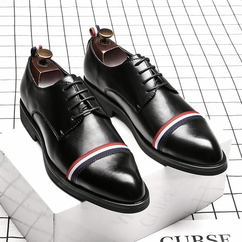 廠家直銷 新款男鞋英倫尖頭商務男跨境大碼皮鞋45潮鞋46外貿鞋50165