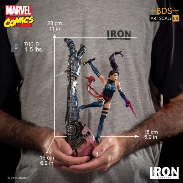 【限時免運】預售 Iron Studios MARCAS28420-10 1/10 X戰警Psylocke 靈蝶雕像 6