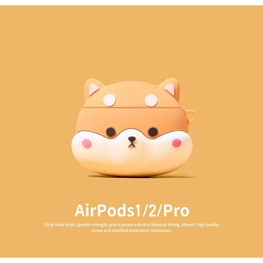 airpods保護套柴犬airpods2代殼3pro蘋果耳機套矽膠ipods無線藍牙