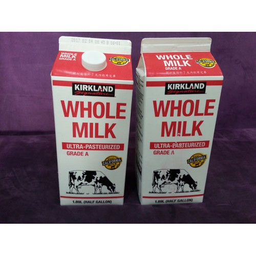 Kirkland 科克蘭 全脂鮮乳(1.89公升2瓶)特價259元HS惠聖生活COSTCO好市多牛奶代購下標一次限寄5組