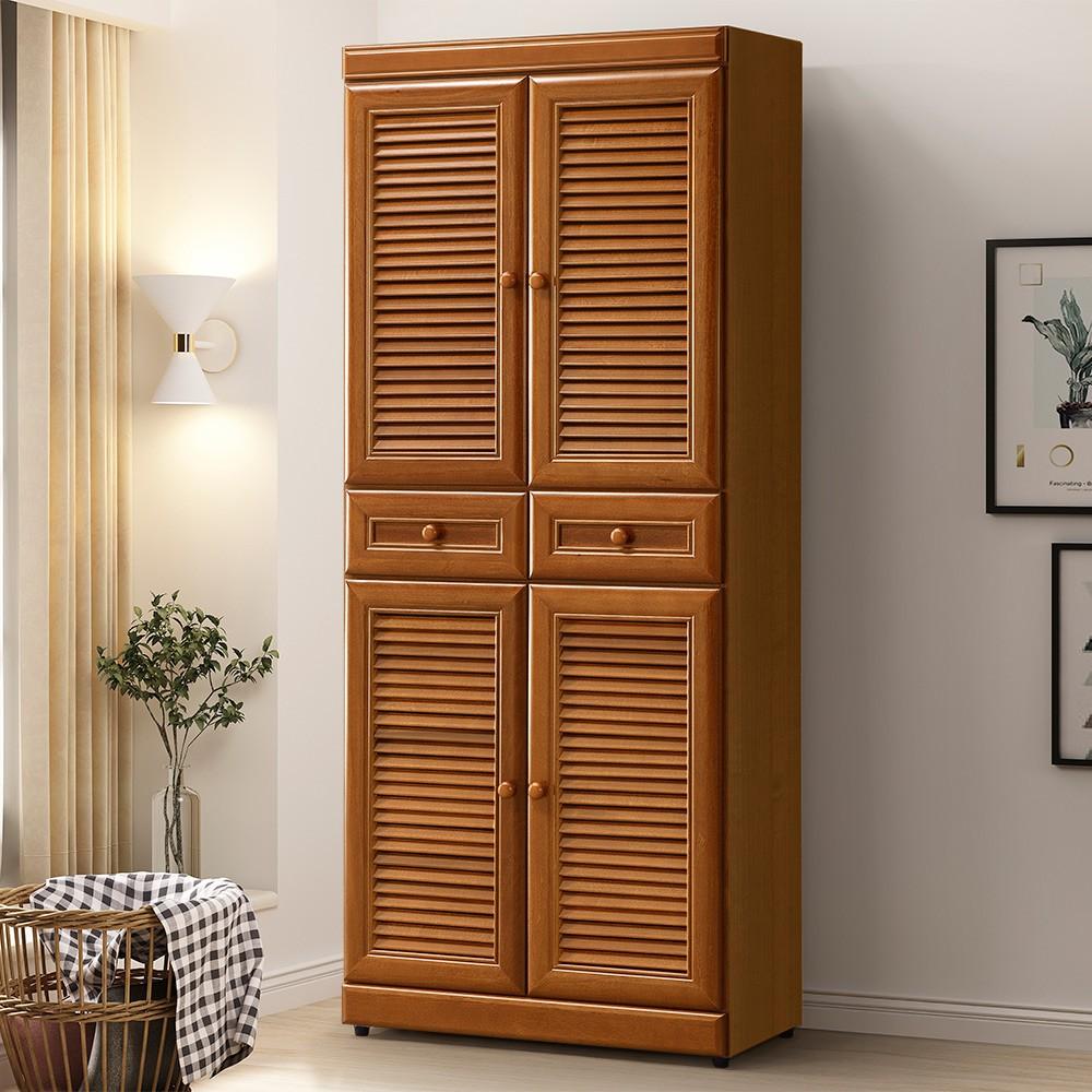 YoStyle 樟木百葉2.5x6尺鞋櫃 櫥櫃 抽屜櫃 收納櫃 置物櫃 專人配送安裝