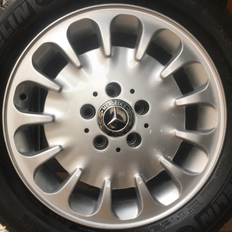 賓士 原廠16吋鋁圈含胎 Benz W124 W201 W202 W203 W204 W208 W209 W210