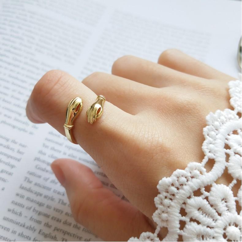 『DOBBI幾何純銀』進不了妳心還是要纏著妳手設計師獨立創作手指戒指﹝ 一月春沐﹞F11801-19
