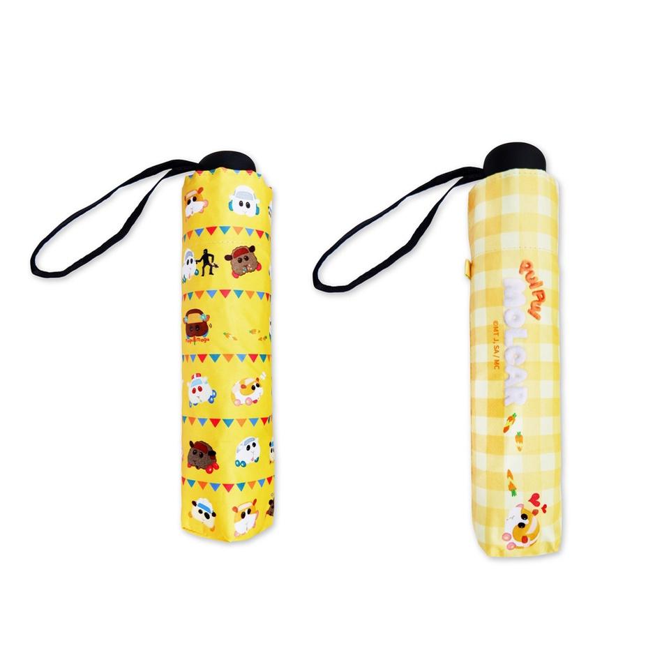 【天竺鼠車車】全遮光折傘 黃點點 黃格紋 共兩款 各別販售