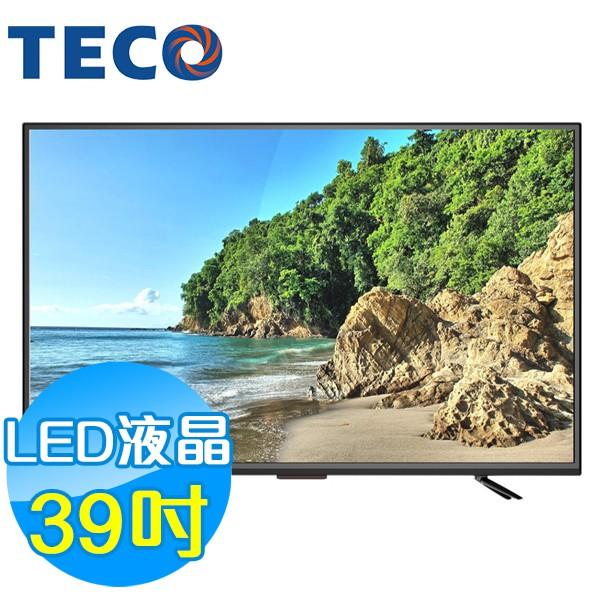 TECO東元 39吋 TL39K1TRE LED低藍光液晶顯示器 液晶電視(含視訊盒)