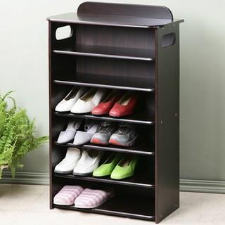 胡桃木色六層鞋櫃/ 置物櫃/ 收納櫃/ 書櫃/ 玄關櫃/ 邊櫃 苗栗縣