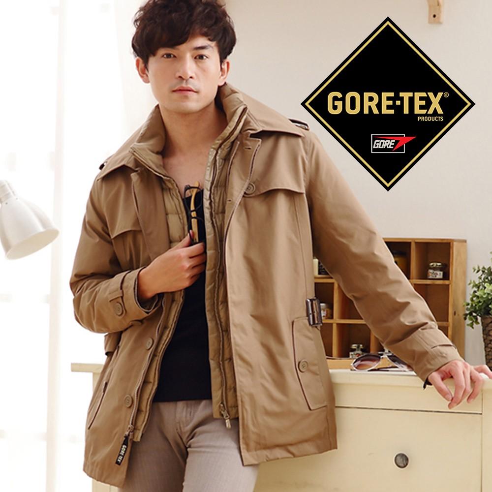 FOX FRIEND 男 GORE-TEX二件式外套『卡其』 1113