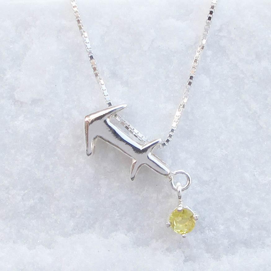 【星座誕生石系列】射手座 白水晶 橄欖石手工純銀項鍊【大員囡仔】