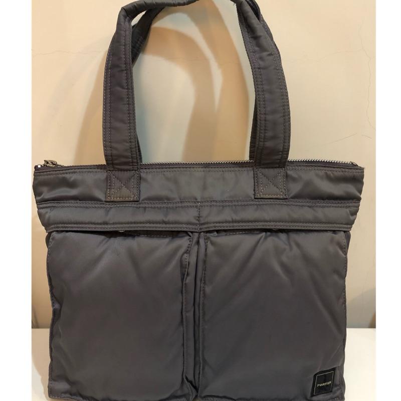 PORTER 灰紫色肩背包 托特包