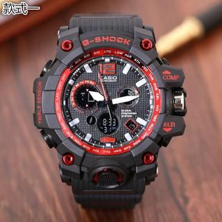 CASIO卡西歐手錶 三眼計時秒表男錶 戶外登山多功能防水手錶 運動電子手錶 男士石英腕錶 男女手錶